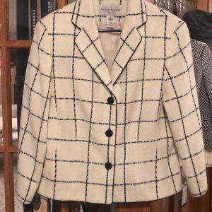 Evan Picone vintage classic plaid Blazer